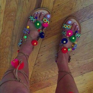 Chinese Laundry lace up sandals